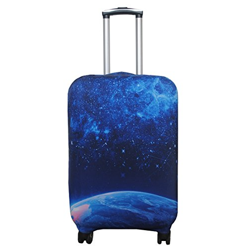 (Explore Land Travel Luggage Cover Suitcase Protector Fits 18-32 Inch Luggage (Star, XL(31-32 inch Luggage)))