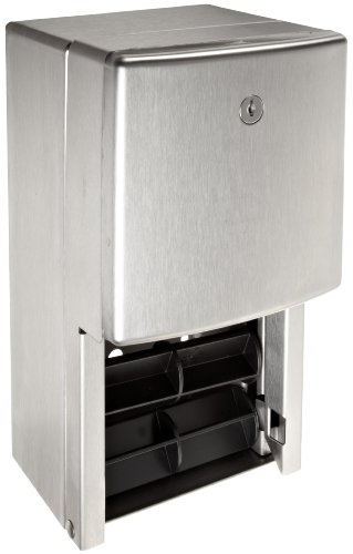 Bobrick 4288 ConturaSeries Two-Roll Tissue Dispenser, 6 1/16