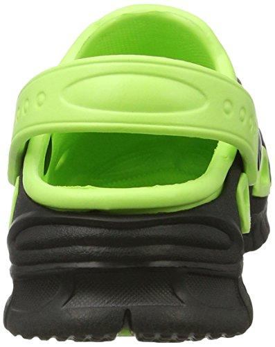 AQUA-SPEED zapatillas Miami niños/zuecos - muy fácil Negro/verde