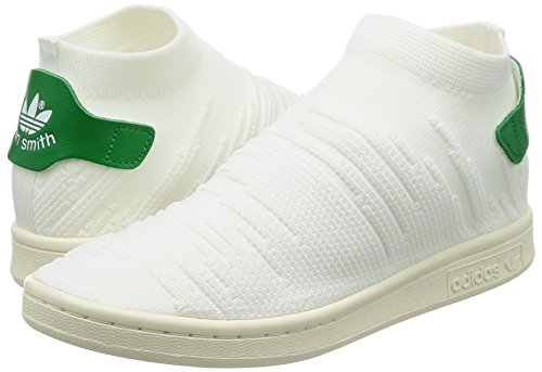 Femme Stan Sneakers Sock Basses green White footwear footwear Blanc Smith White Primeknit Adidas adZWHOH