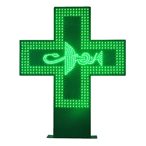 Outdoor Waterproof LED Pharmacy Cross Open Sign for