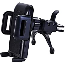 Car Phone Holder,U-good Air Vent Car Mount with Kickstand[One Touch Grip/Release] for iPhone 7 Plus,6s,Samsung...