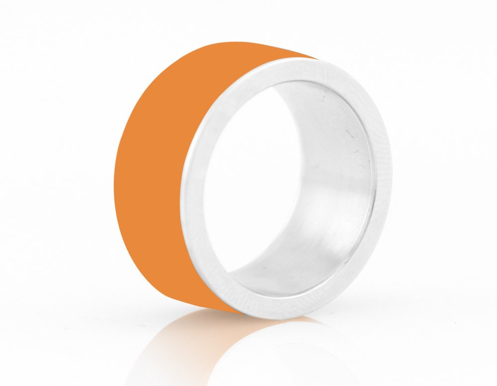 LYCOS Life NFC Smart Ring, Alpenglow Orange Size
