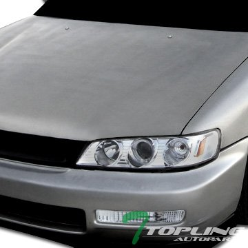 Topline Autopart Crystal Clear Lens Front Signal Parking Bumper Lights Lamps Blinkers For 96-97 Honda Accord