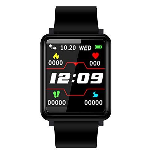 YHLDCA Pulsera de Actividad Inteligente Monitor de Ritmo Cardíaco Podómetros Monitor de Sueño Notificación de SMS Reloj Inteligente para Deporte para ...