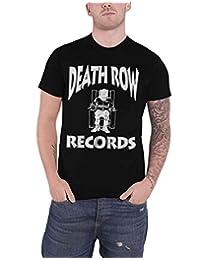 Death Row Records T Shirt Label Logo Hip Hop Official Mens Black