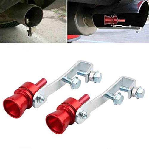 Universal Extra Large Red Turbo Sound Exhaust Whistle Blow off Valve Simulator