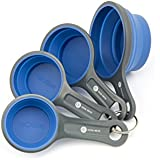 Superior Quality Four Piece Collapsible Silicone Measuring Cups to Measure Dry and Liquid Ingredients