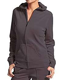 Hollywood Star Fashion Velour Classic Hoodie Sweat Jacket with Pockets