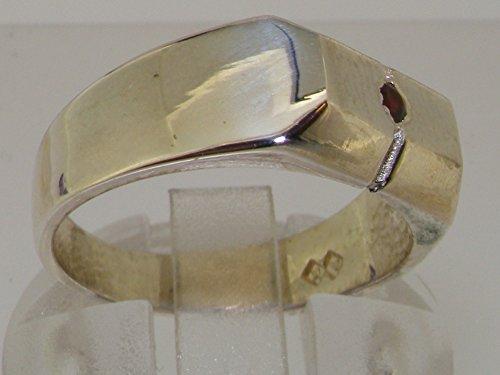 Haute Qualité Bague pour Femme en Argent fin 925/1000 sertie de Grenat - Tailles 47 à 68 disponibles