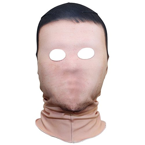 (AXBXCX Polyester Fleece Costume Skin Masks Halloween Party Full Cover Hood Mask Neck Gaiter Warmer Blaclava No Face for Dust Music Festivals Raves Ski Motorcycle)