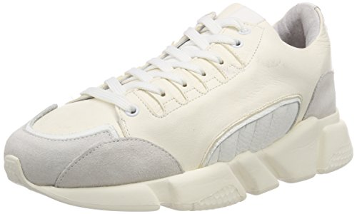 Selected Femme Slfvira Leather Trainer B, Zapatillas para Mujer Blanco (White White)