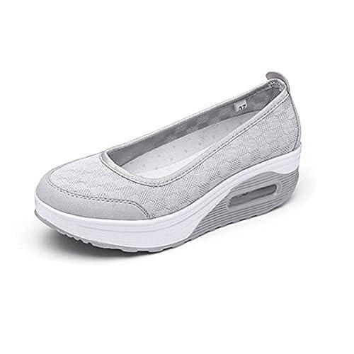 save off f0bfd 503b5 60%OFF Femme Ballerines Sport Baskets Mode Confortable De Plein Air  Chaussures De Marche