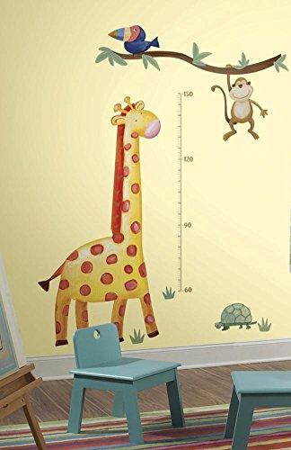 RoomMates RMK2141GM  Jungle Adventure Giraffe Peel and Stick Growth Chart (Bedroom Ideas 1)