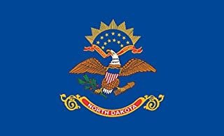 product image for Valley Forge, Dakota State Flag, Nylon, 3' x 5' Nylon, 100% Made in USA, Canvas Header, Heavy-Duty Brass Grommets