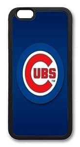 Chicago Cubs Custom iPhone 6 4.7 inch Case Cover TPU Black