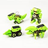 4-in-1 Educational Solar Robot Kit Build Your Own Science Toy DIY,Green