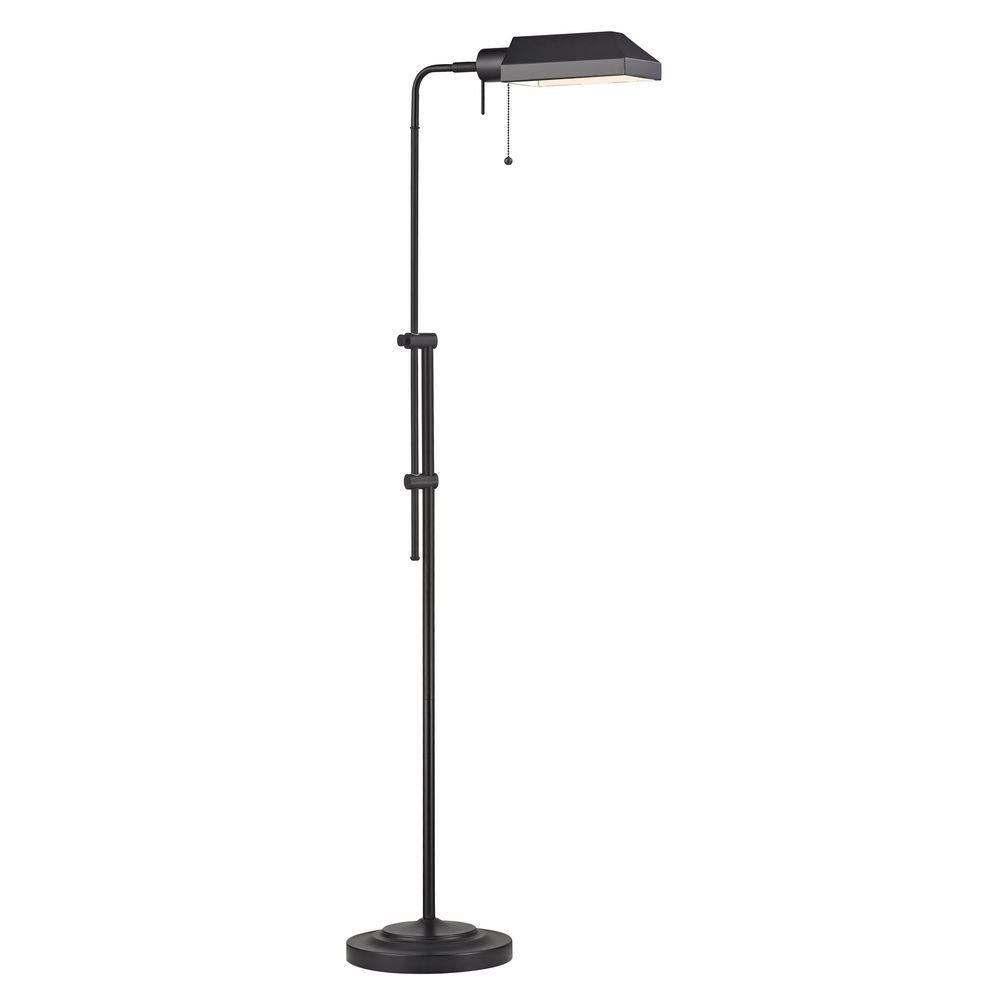 Design Classics Ebony Bronze Pharmacy Adjustable Floor Lamp