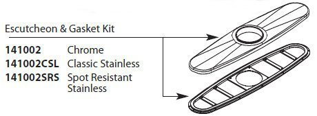 Moen 141002SRS Replacement Escutcheon Kit, Spot Resist Stainless by Standard Plumbing Supply