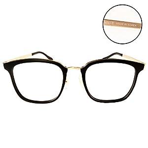 Luvoirgroup | Premium Fashion Vintage Retro Classic Glasses square Frame Black Chic Vintage eyewear Clear Lens Eye Glasses | Made in Korea