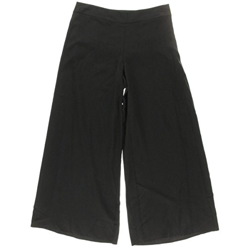 Eileen Fisher Womens Twill Flat Front Wide Leg Pants Black S (Eileen Fisher Pants Black compare prices)