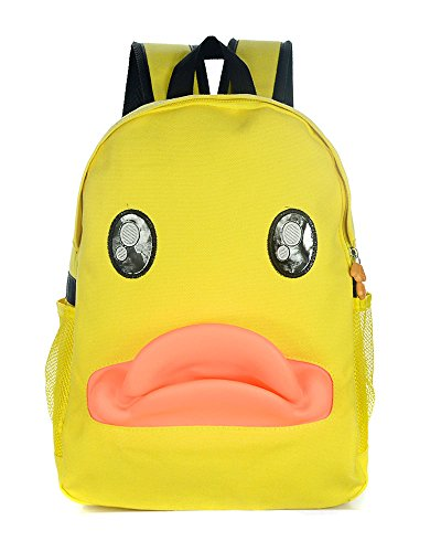 TOKYO-T Funny Backpack Duck School Bag for Adult Womens Cute Animal Daypack