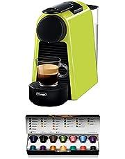 De'Longhi Nespresso Essenza Mini, EN 85,5 L koffiecupmachine, Welkom set met capsules in verschillende smaken, 19 Bar Pompdruk, ruimtebesparend, Limoen
