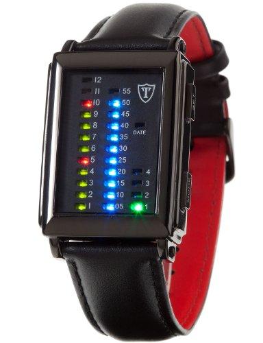 DETOMASO Men's G-30723S SPACY TIMELINE 1 Binary   Trend Schwarz/Schwarz Digital Display Japanese Quartz Black - Trend Fashion Timeline