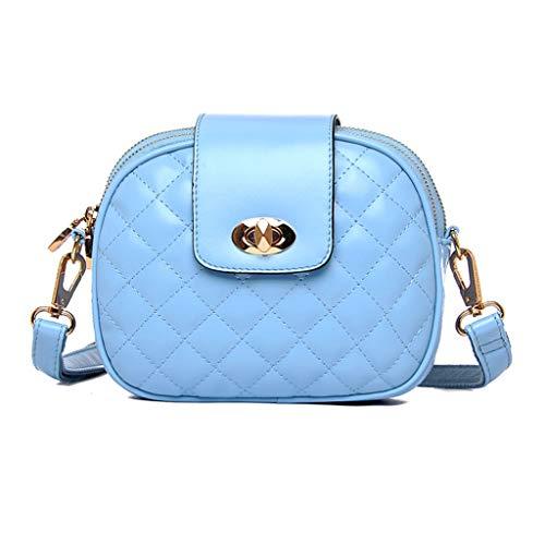 Mensajero Bolso 16 Bolsa Mujer Colores Hombro Zdd Sólido Azul color 5 Claro Cm De Mini Color Salvaje La 19 7 6qEqXFw