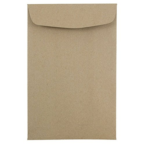 JAM PAPER 6 x 9 Open End Catalog Premium Envelopes - Brown Kraft Paper Bag - - Brown Catalog End Open Kraft