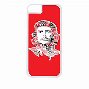 Freedom-Che Guevara - Hard White Plastic Snap - On Case with Soft Black Rubber Lining-Apple Iphone 5 - 5s - Great Quality!