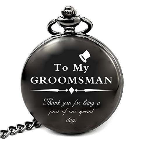 Groomsmen Gifts for Wedding, Best Man Gifts for Wedding Funny, Personalized Groomsman Pocket Watch