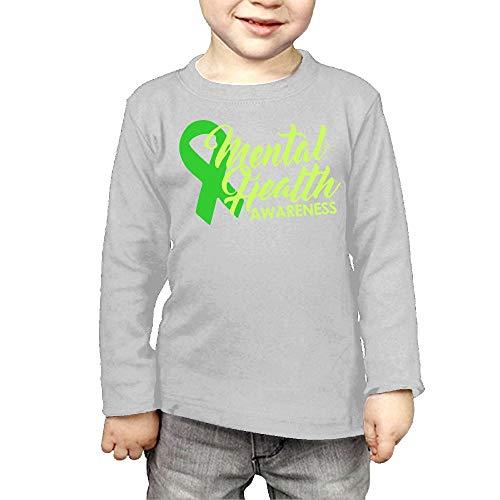 CERTONGCXTS Little Girls Mental Health Awareness Ribbon ComfortSoft Long Sleeve Tee]()