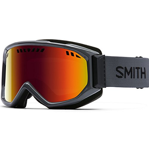 Smith Optics Adult Scope Snow Goggles Charcoal Frame/Red Sol-X - X Goggles