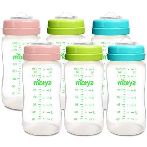 Matyz 6-Pack Breast Milk Storage Bottles