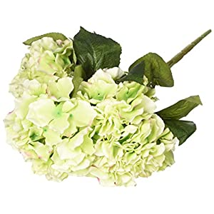 Wintop Artificial Silk Fake 5 Heads Flower Bunch Bouquet Home Hotel Wedding Party Garden Floral Decor Hydrangea -- Green 91