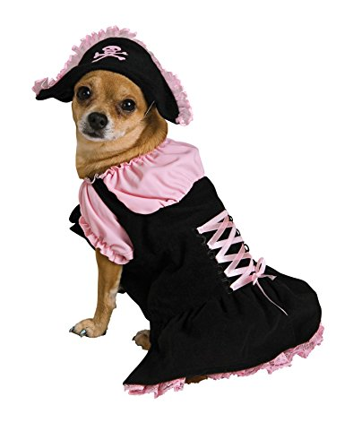 UHC Pirate Wench Caribbean Cute Fancy Dress Halloween Pet Dog Costume, (Wench Halloween Outfit)