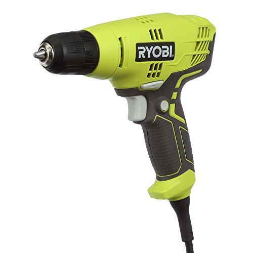 (Ryobi D43K 5.5 Amp 3/8 Inch 1,600 RPM Variable Speed Trigger Corded Power Drill)