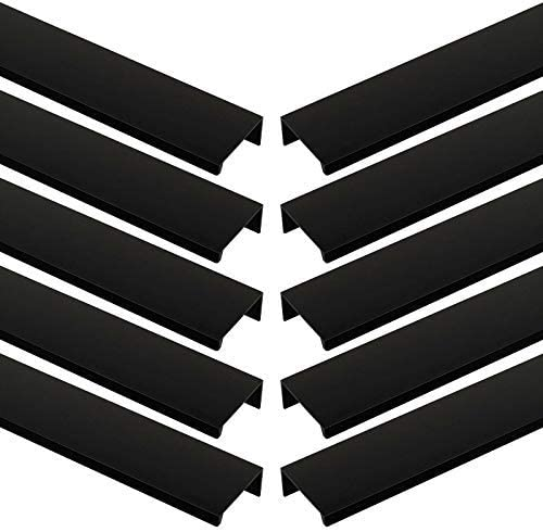 10 x Poign/ée Fixation Arri/ère Blankett Jane 280 mm noir Poign/ée pour Placard Poign/ée de Meuble Poign/ées de Cuisine de Sotech