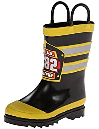 Western Chief Boys Printed Rain Boot, F.D.U.S.A, 10 M US Toddler