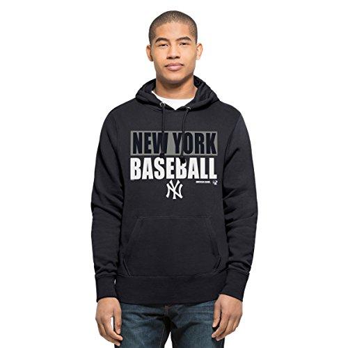 MLB New York Yankees Men's '47 Headline Pullover Hood, Fall Navy, Large