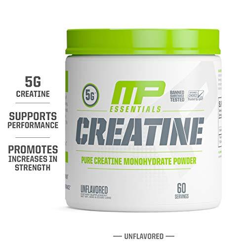 MP Essentials Micronized Creatine, Ultra-Pure 100% Creatine Monohydrate Powder, Muscle-Building, Protein Creatine Powder, Creatine Monohydrate Powder, 300 g, 60 Servings
