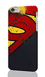 "Superman Logo Custom Rough 3d Non-slip Durable Cover Case Skin For iPhone 6 Plus with 5.5"" inch, iPhone 6 Plus Case (3D)"