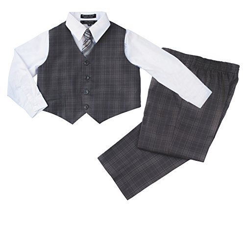 Boys Formal Suit Set - Vest Shirt Pants and Matching, used for sale  Delivered anywhere in USA