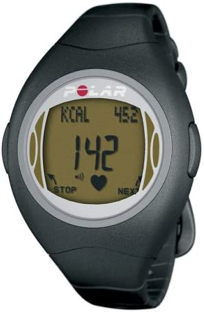 POLAR F4 Women's Heart Rate Monitor Watch (Black Amber)