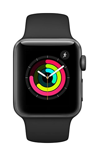AppleWatch Series3 (GPS, 38mm) - Space Gray Aluminium Case with Black Sport Band by Apple (Image #1)