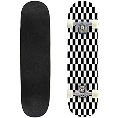 Cuskip Chemistry Skateboard Complete Longboard 8 Layers Maple Decks Double Kick Concave Skate Board, Standard Tricks Skateboards Outdoors, 31