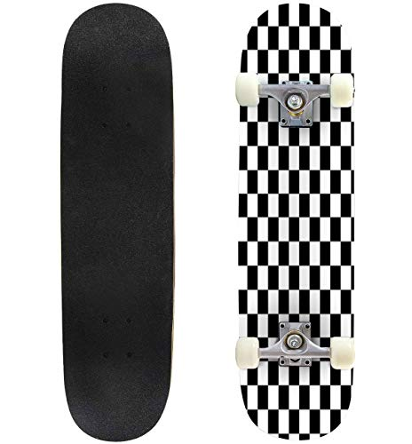 Chemical Tools Skateboard Complete Longboard 8 Layers Maple Decks Double Kick Concave Skate Board, Standard Tricks…