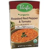 Pacific Foods Organic Roasted Red Pepper And Tomato Bisque, 17.6-Ounce Cartons, 12-Pack