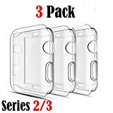 Apple Watch 2 Case, Ezone Screen Protector for Apple Watch (Series 2 / Series 3) (3 Pack){42mm}